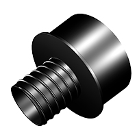 4 Inch to 2.5 Inch Threaded Quick Connect Reducer